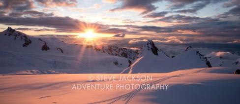 Sunset Fox Glacier